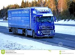 Blue Volvo FH12 460 Semi Truck Trucking In Snow And Ice Editorial ... Ready For The Road Big Rig Shows Got A Parade An Ice Ice Trucking 20 Crazy Restrictions Truckers Have To Obey Screenrant Mack Sets Up As Goto Truck Harsh Cadian Climate Transport Yb Services Ligation Category Archives Georgia Accident Why Transportation Sotimes Is The Best Option Ccpi Exhibiting At Great American Show Company Alberta Mm Rources Inc History Of Trucking Industry In United States Wikipedia