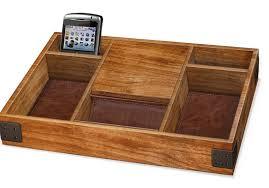 Dresser Valet Watch Box by Mens Wood Dresser Valet Men Storage Wallet Phone Watch Organizer