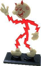 Reddy Kilowatt Character Lamp by Knicknacks And Miscellania