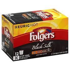 Folgers K Cups Coffee Dark Roast Black Silk 12 Ct