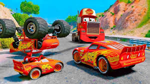 100 Truck Games Videos Heavy Construction MACK TRUCK Lightning McQueen McQueen