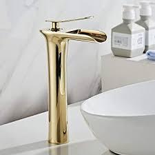 aimadi wasserhahn bad wasserfall waschtischarmatur hoch