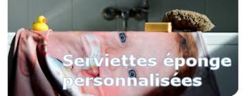 serviette éponge personnalisée avec photos et texte miss couettes