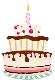 Cake clipart one candle Pencil and in color cake clipart one candle