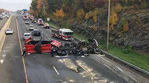 100 Dump Truck Crash Police ID Driver Killed In On I95 In Milford