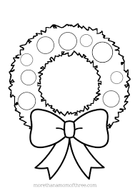 Christmas Wreath Coloring Page Printable