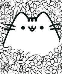 Cute Unicorn Coloring Pages To Print Fresh Cat Page Free Printable Kawaii 3d Printables