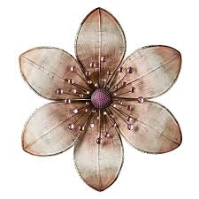 Image Gallery Of Metal Flower Wall Decor 11 Stunning 30cm Diamante Jewelled 3D Rustic Art Hanging