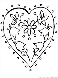 Free Coloring Pages Flowers Roses And Butterflies Flower 2