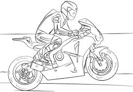 Click To See Printable Version Of Racing Motorcycle Coloring Page