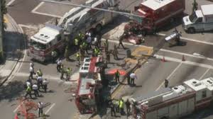 100 Fire Truck Accident Several Firefighters Hurt In Miami Crash Involving Fire Truck