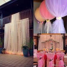 Cheap DIY Custom MadeTulle Wedding Decorations Chair Covers Sashes Backdrops Pew Arch Bridal Favors 150cm Width 100mters Long