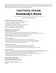 Functional Summary Resume Examples Exmples Functil Mt Socil