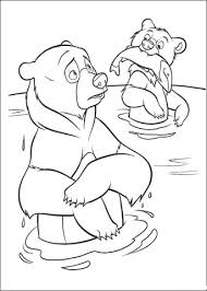 Click To See Printable Version Of Little Bear Caught A Fish Coloring Page