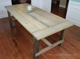 Diy Sewing Cabinet Plans by Diy Farmhouse Table For Less Than 100 The Turquoise Home