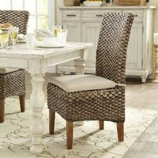 wicker rattan kitchen dining chairs you ll love wayfair