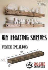 Free Woodworking Plans Floating Shelves by Diy Floating Shelf Free Plans Rogue Engineer