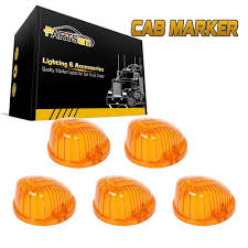 5x Amber Cab Roof Light Marker 9069A Covers Lens For Chevy GMC K1500 ... 8pc White Led Truck Bedrear Work Box Lighting Kit Trunk Light For Marker Clearance Lights Trucklite 2pcs 6000k P13w 33smd Bulbs For Auto Car Fog Lamp Arb Style Blue Rocker Switch Many Sayings Hid Pros Automotive Bulb Connectors Sockets Wiring Harnses 15 Series Incandescent 1 Rectangular Clear Utility 50 Smart 7 Solid Pin Grey Plastic Surface Mount Nose Universal Teardrop Smoke Cab Roof Super 44 Red Round 6 Diode Stopturntail Black Grommet
