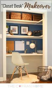 add a home office to a spare closet office works shelves and spaces