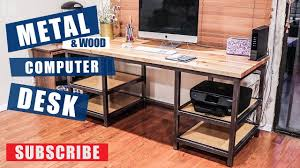 Metal & Wood puter Desk Build