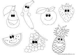 Fruit Coloring Pages Fly Guy Printable To Print