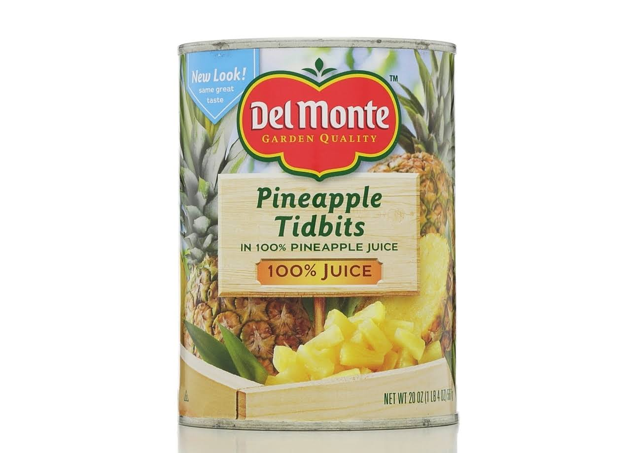 Del Monte Pineapple Tidbits in 100% Juice