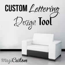 Custom Vinyl Lettering Stickers Sample Letter Template