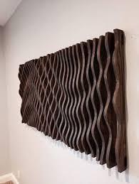 Large Wooden Wall Art Parametric Sculpture Wood Modern Abstract