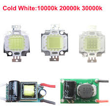 1pcs 10w cold white 10000k 20000k 30000k led light bulb diode l