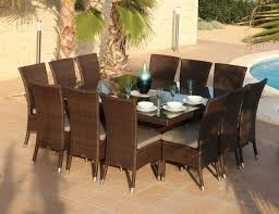 Magnificent 12 Seater Square Dining Table Room Wonderful Skyline Pacific And Lamoni Seat
