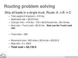 100 Truck Load Rate GEOP 4355 Transportation Routing Models Ppt Download