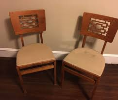 Vintage Set Of Stakmore Folding Chairs Danish Modern Brown ... Antique Stakmore Louis Rastter Sons Folding Wooden Leather Chairs Set Of 7 1940 Wood Related Keywords Suggestions Midcentury Retro Style Modern Architectural Vintage French Cane Back 6 Mid Century Camping Table And Sante Blog Aptdeco Folding Chairs Are Ideal For Accommodating Extra Details About Chippendale Chair 2 3
