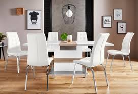 essgruppe perez lila set 5 tlg mit 4 stühlen tisch ausziehbar breite 160 200 cm kaufen otto
