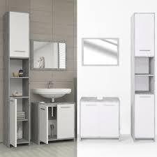 vicco badmöbel set kiko weiß grau beton badezimmer badspiegel waschtisch kommode unterschrank bad hochschrank