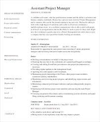 Assistant Project Manager Resume Contract Management Templates