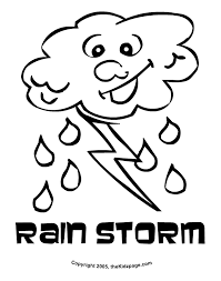 Weather Coloring Pages For Toddlers
