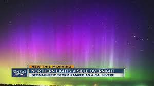 Northern lights visible over Aurora last night