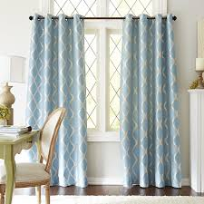 Geometric Pattern Sheer Curtains by Moorish Tile Curtain Smoke Blue Pier 1 Imports For The Home