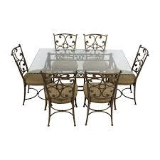 90% OFF - Glass And Gold Wrought Iron Dining Set / Tables Encore Fniture Gallyhooker Wrought Iron Fascating Table Set Off Glass And Gold Ding Table Iron Worldpharmazoneco And Chairs Outdoor Ding Room Indoor Wrought Room Sets Chairs Adrivenlifecom Arthur Umanoff Somette Round Top Beautiful Best My Blog Dinette Zef Jam Hutchsver High Stools 9 Pieces