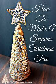 How To Make A Sequin Christmas Tree