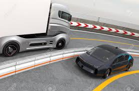 100 Car Truck Hybrid Electric And White Electric On Highway Stock Photo