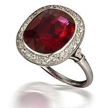 deco ruby and ring deco ruby ring 1924 mauboussin deco weddings