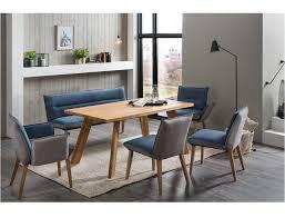 expendio essgruppe morten spar set 6 tlg massivholztisch eiche rustikal 160x90 cm 1x bank 2x stühle 2x sessel gerit 2 grey navy