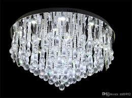 großhandel freies verschiffen 80 cm europäischen moderne kurze kreative deckenleuchte kristall led deckenleuchten wohnzimmer wohnzimmer restaurant