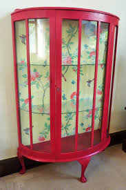 vintage bow fronted display cabinet annie sloan paint and v a