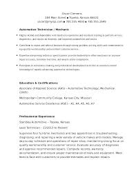 Auto Body Technician Resume Mechanic Objective Examples Template 6 Free Word Document Downloads Automotive