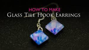 how to make glass tile hook earrings