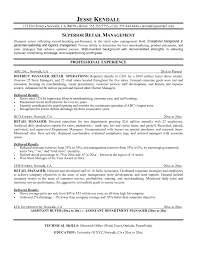 Resume Templates For Store Keeper Inspirational Retail Management Examples And Samples Manager