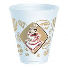 Dart 12X16G Cafe Design Styrofoam Cup Red 12 oz