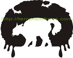 Cheshire Cat Pumpkin Stencil Printable by Cat Face Template Free Download Clip Art Free Clip Art On